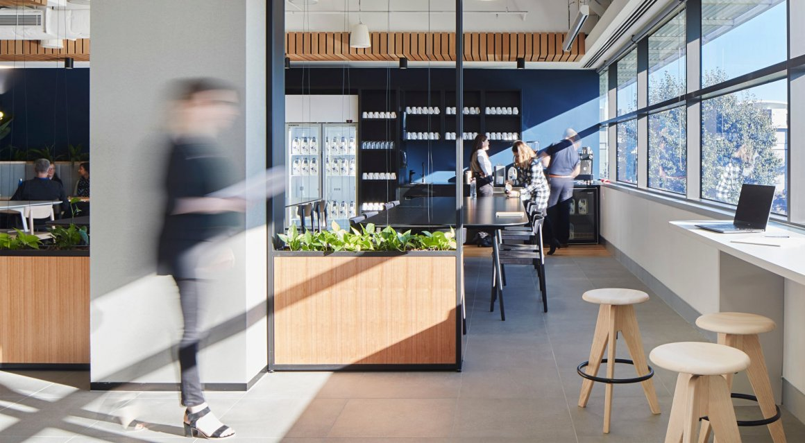 Fonterra's new workplace in Melbourne, created by Unispace