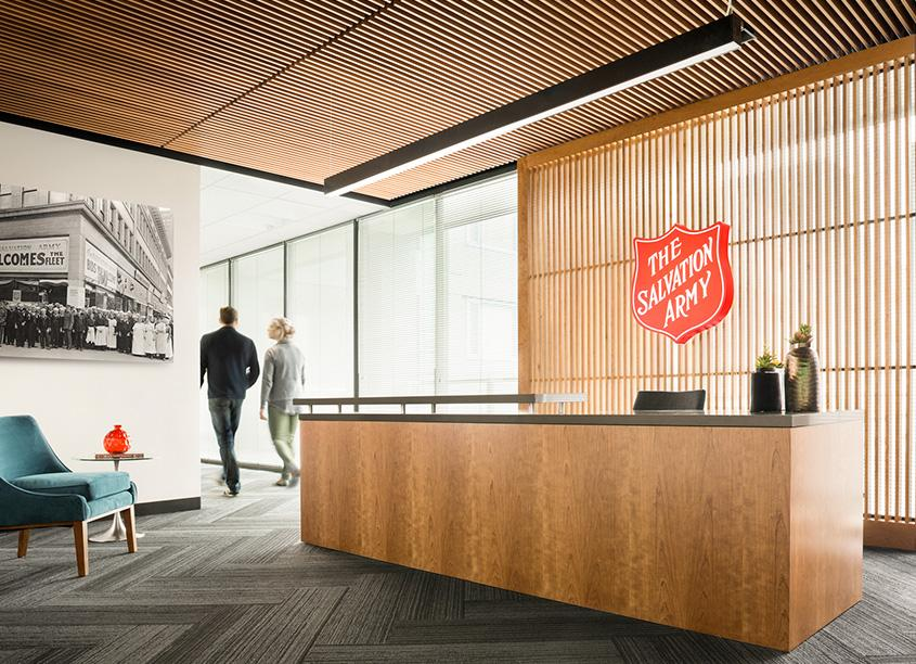 office design san francisco. workspace and office design projects in san francisco: the salvation army francisco
