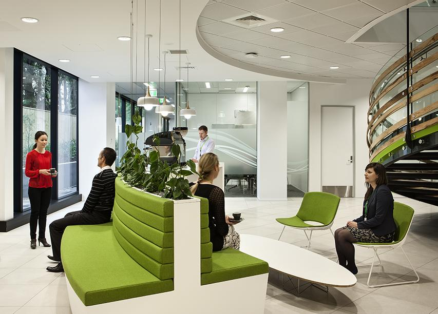 Workspace and office design projects in auckland bp for Office design auckland