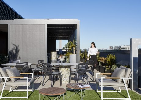 Unispace, Herbert Smith Freehills, office design, workplace design, think create make, workplace rooftop