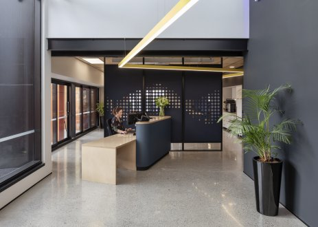 Tonkin + Taylor reception area, designed by Unispace